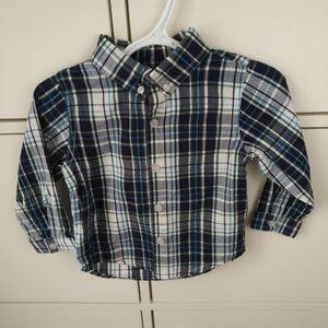 4/$20 Toddler boy plaid dress shirt 18 months